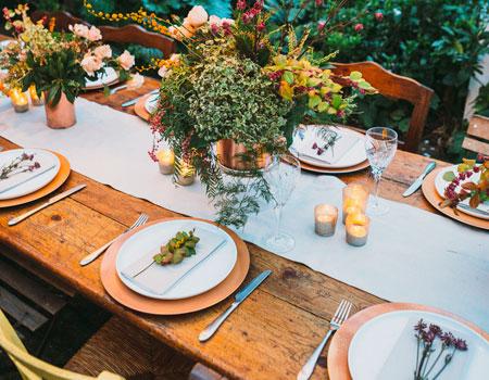 Garnish Creative Catering Three Course Meal Menu